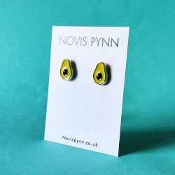Enamel Avocado Earrings