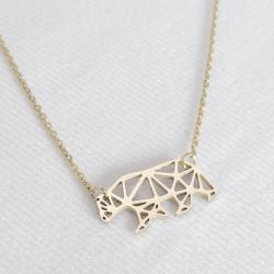 Gold Origami Polar Bear...